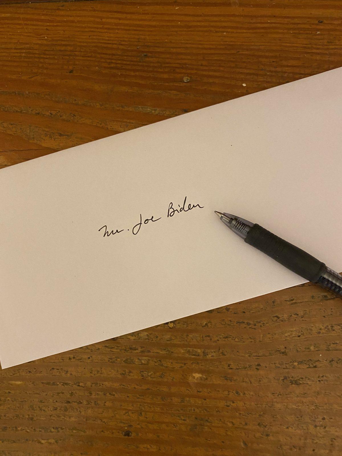 Dear Joe,